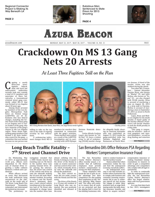 2017 05 22 mon legal pg azusa by Beacon Media News - issuu