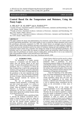 Control Based On the Temperature and Moisture, Using the Fuzzy Logic