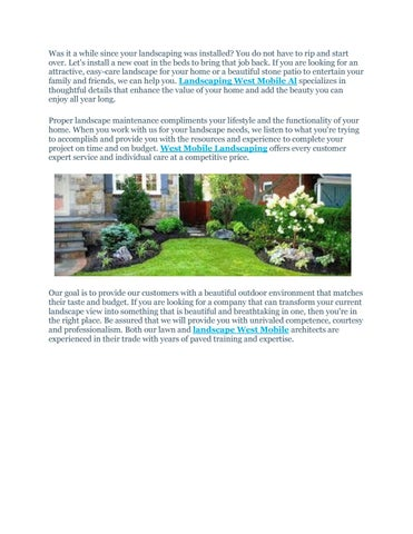 Landscaping West Mobile Al By West Mobile Lawn Care Issuu
