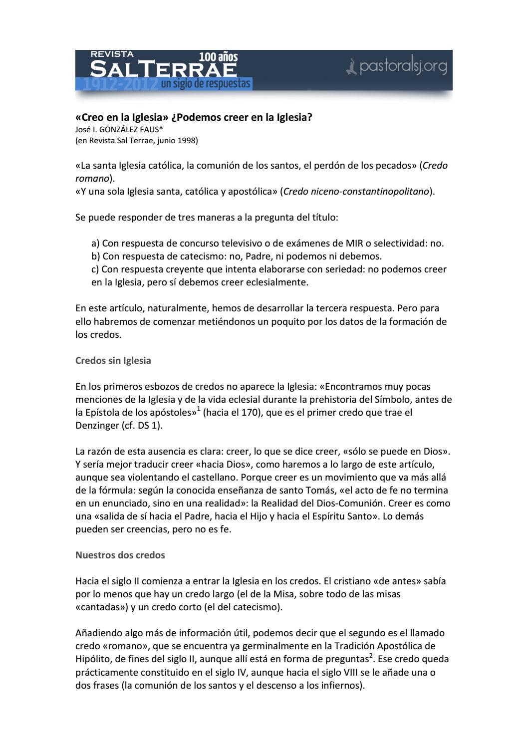 07 Creo En La Iglesia By Carlos Roldan Issuu