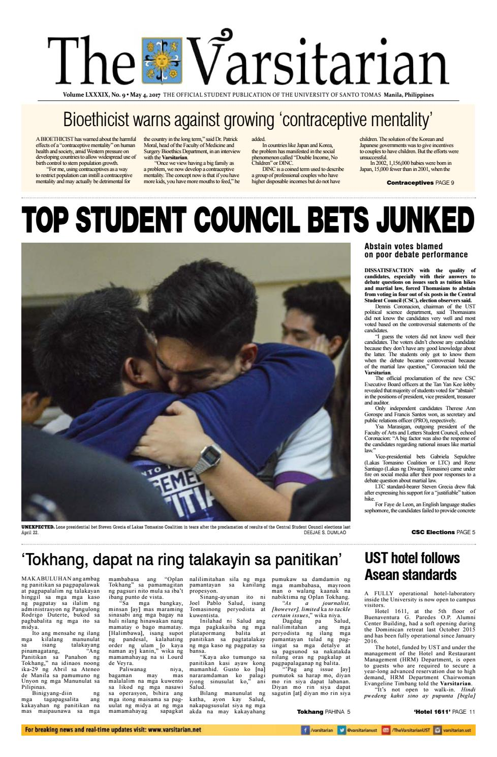 The Varsitarian P Y  2016-2017 Issue 09 by The Varsitarian