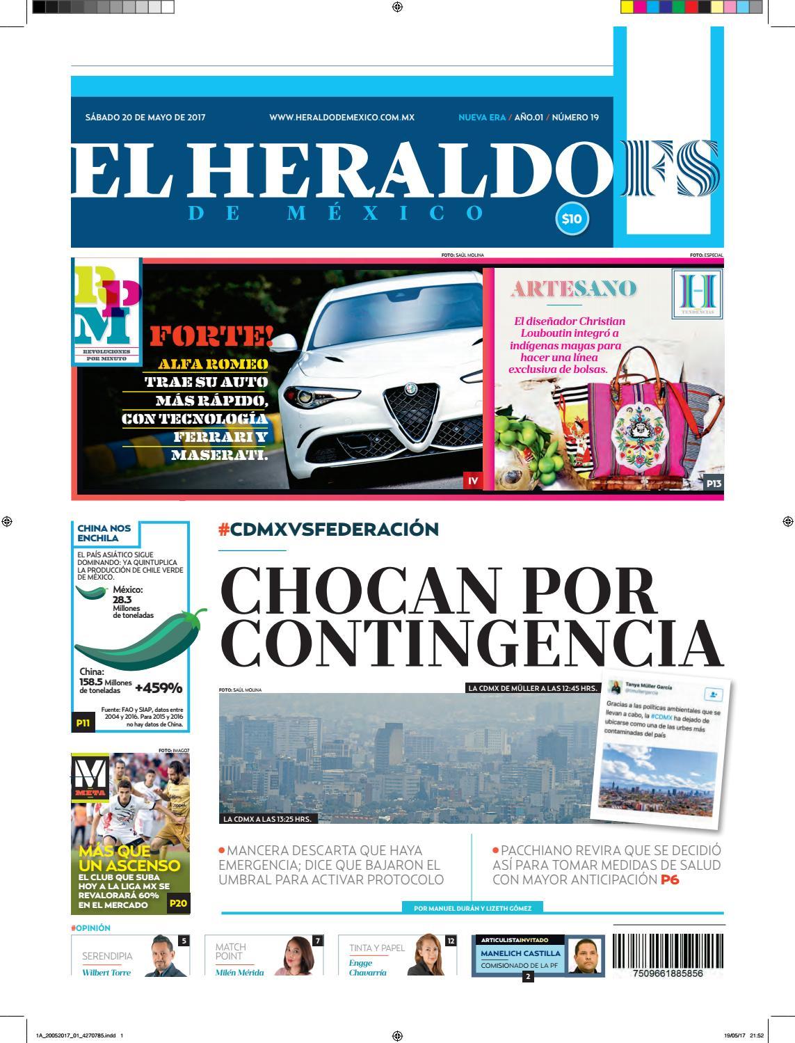 El Heraldo de México 20 de Mayo 2017 by El Heraldo de México - issuu e386fc703208e
