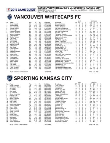 b4f1711e0 Game Guide  Sporting KC at Vancouver Whitecaps FC by Sporting Kansas ...