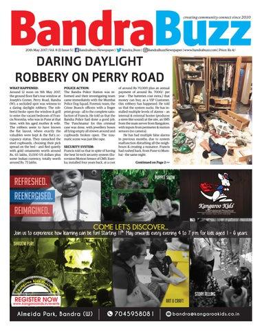 May 2017 by Bandra Buzz - issuu