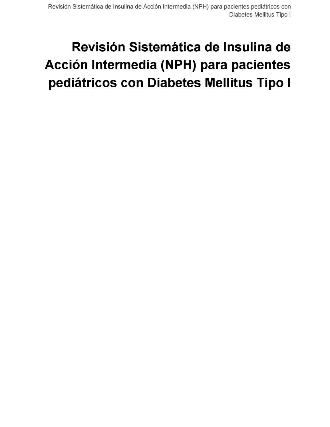 absorción de insulina nph y diabetes