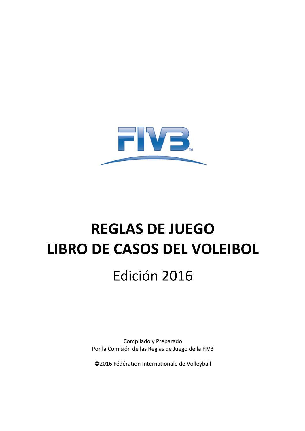 2016 volleyball rules casebook sp final v1 by Mario Vasquez Espinoza ...