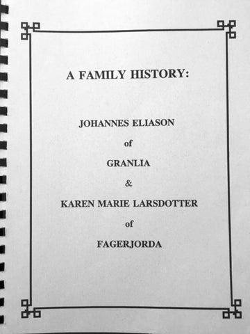 89bb0c80224b58 A family history johannes eliason of granlia   karen marie ...