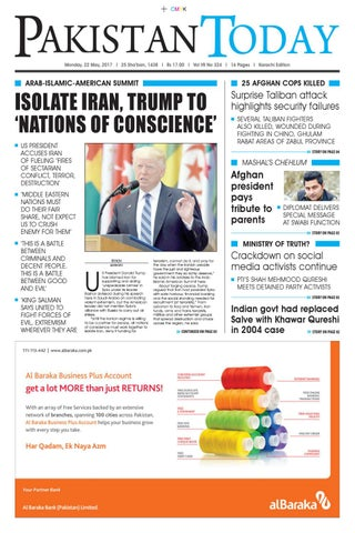 E paper pdf (22 05 2017) (khi) by Pakistan Today - issuu