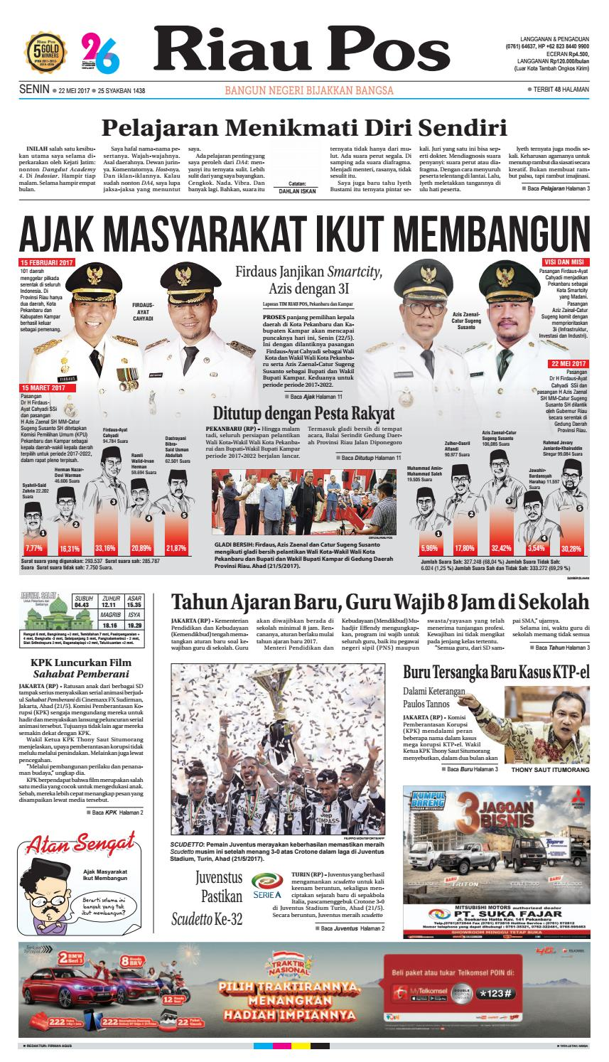 2017 05 22 By Riau Pos Issuu Tcash Vaganza 17 Botol Minum Olahraga Discovery 750ml Hitam