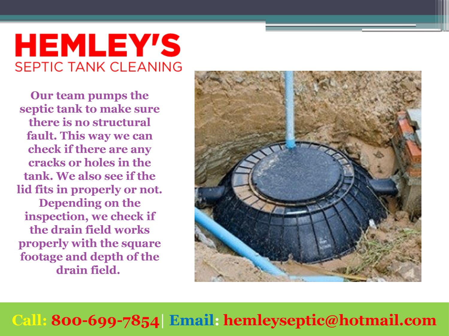 Septic Tank Inspections Near Me by Hemley's Septic Service - issuu