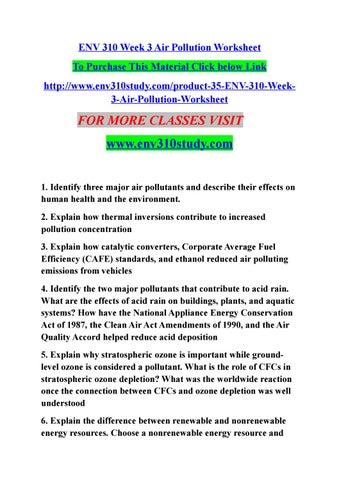 Env 310 week 3 air pollution worksheet by bittu1a - issuu