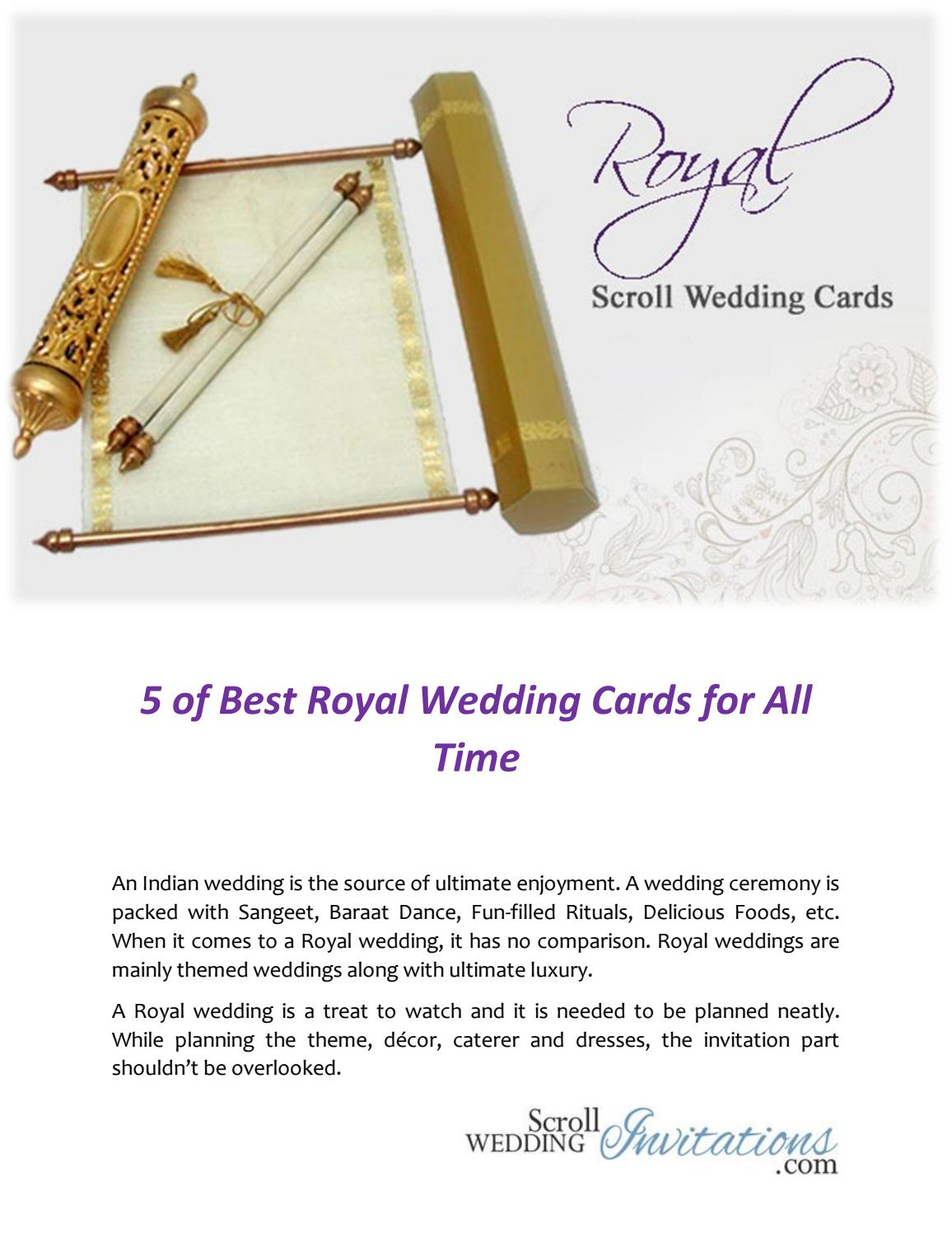 5 of best royal wedding cards for all time by Scroll Wedding ...