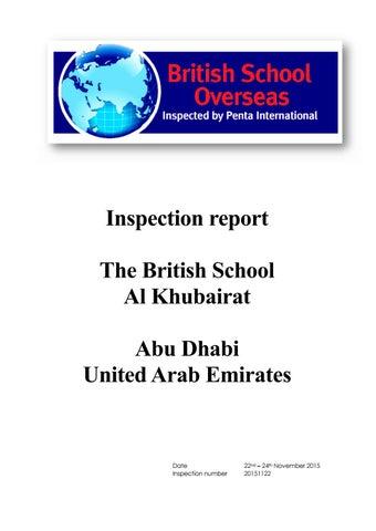 BSAK BSO Inspection Report 2015 by BSAK Abu Dhabi - issuu