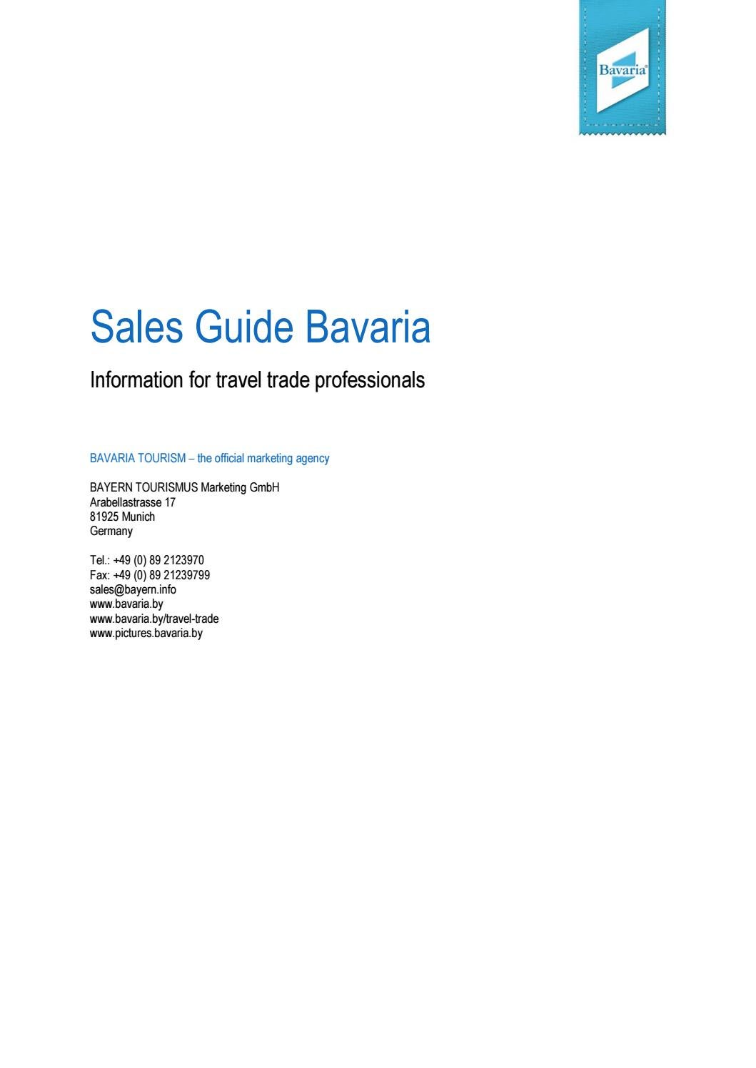 Bavaria sales guide 2017 by Bayern Tourismus - issuu