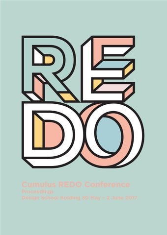 REDO Cumulus Conference Proceedings by Designskolen Kolding - issuu