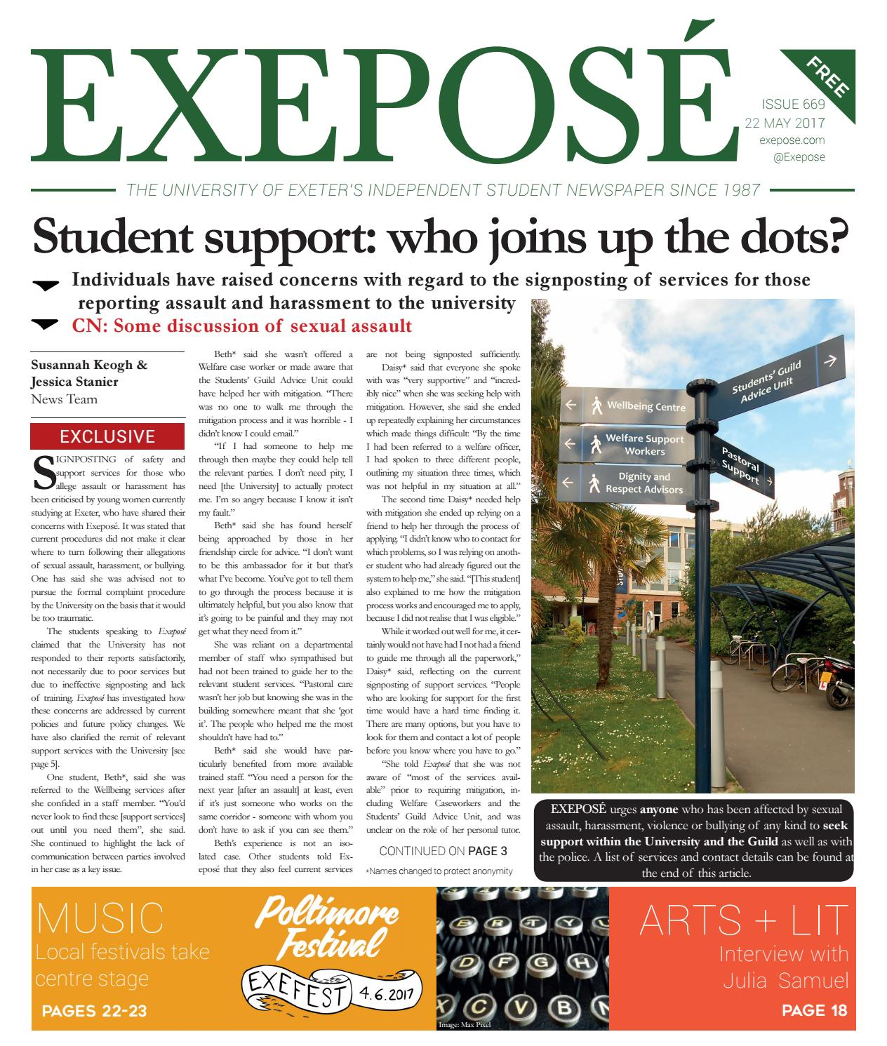 Issue 669, 22 May 2017 by Exeposé - issuu