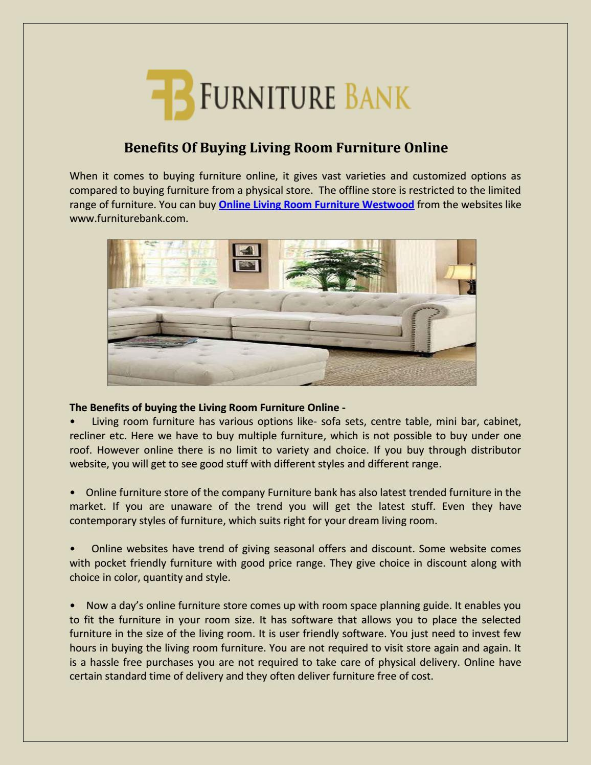 Online living room furniture westwood by Furniture Bank - issuu