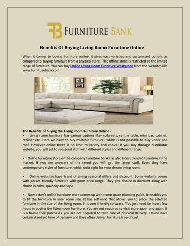 Benefits Of Buying Living Room Furniture Online When It Comes To Buying  Furniture Online, It Gives Vast Varieties And Customized Options As  Compared To ...