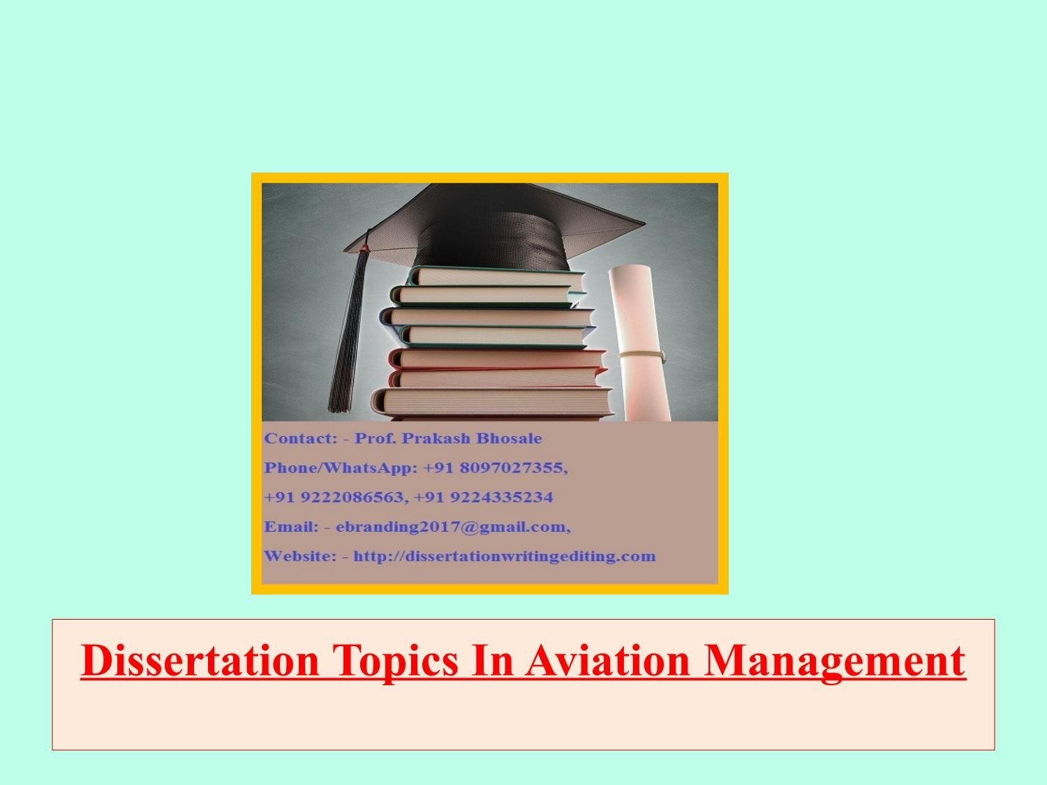 Airline airport management dissertation