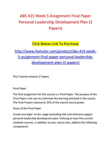 Research paper on personal development