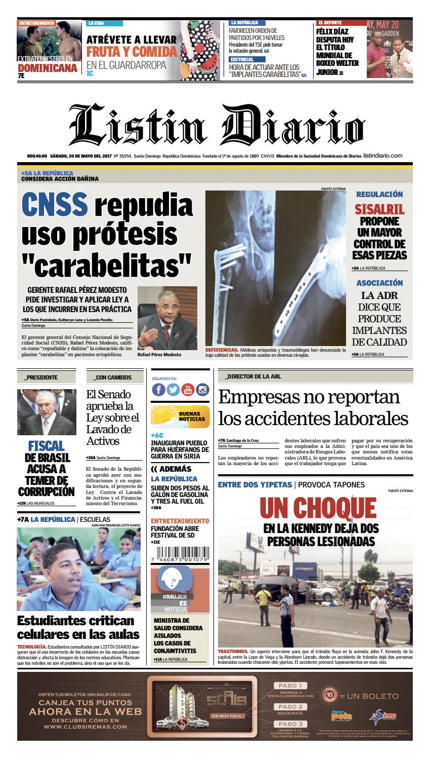 LD 20-05-2017 by Listín Diario - Issuu 49c3e3202ac