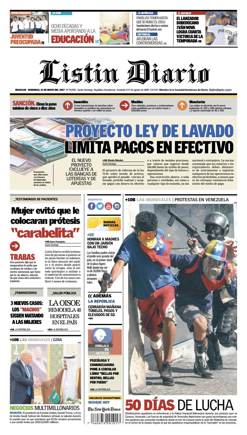 LD 21-05-2017 by Listín Diario - issuu c0c5fb0a2da