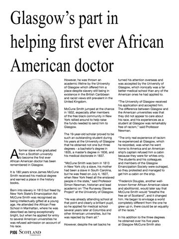 Page 106 of Glasgow's part in helping first ever African American doctor