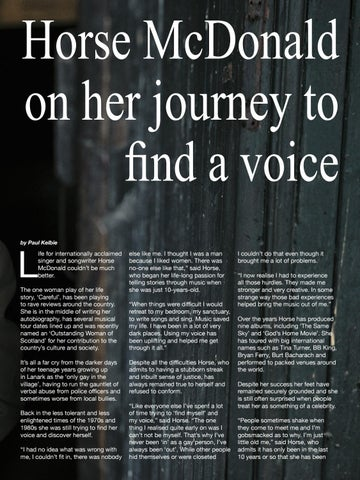 Page 9 of Horse McDonald on her journey to find a voice