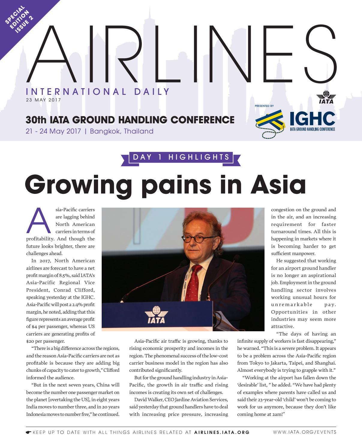 IATA Ground Handling Conference 23 May 2017 by Redactive Media Group - issuu