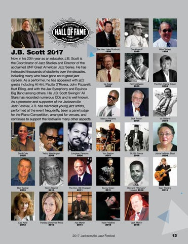 Page 13 of Jacksonville Jazz Festival Hall of Fame