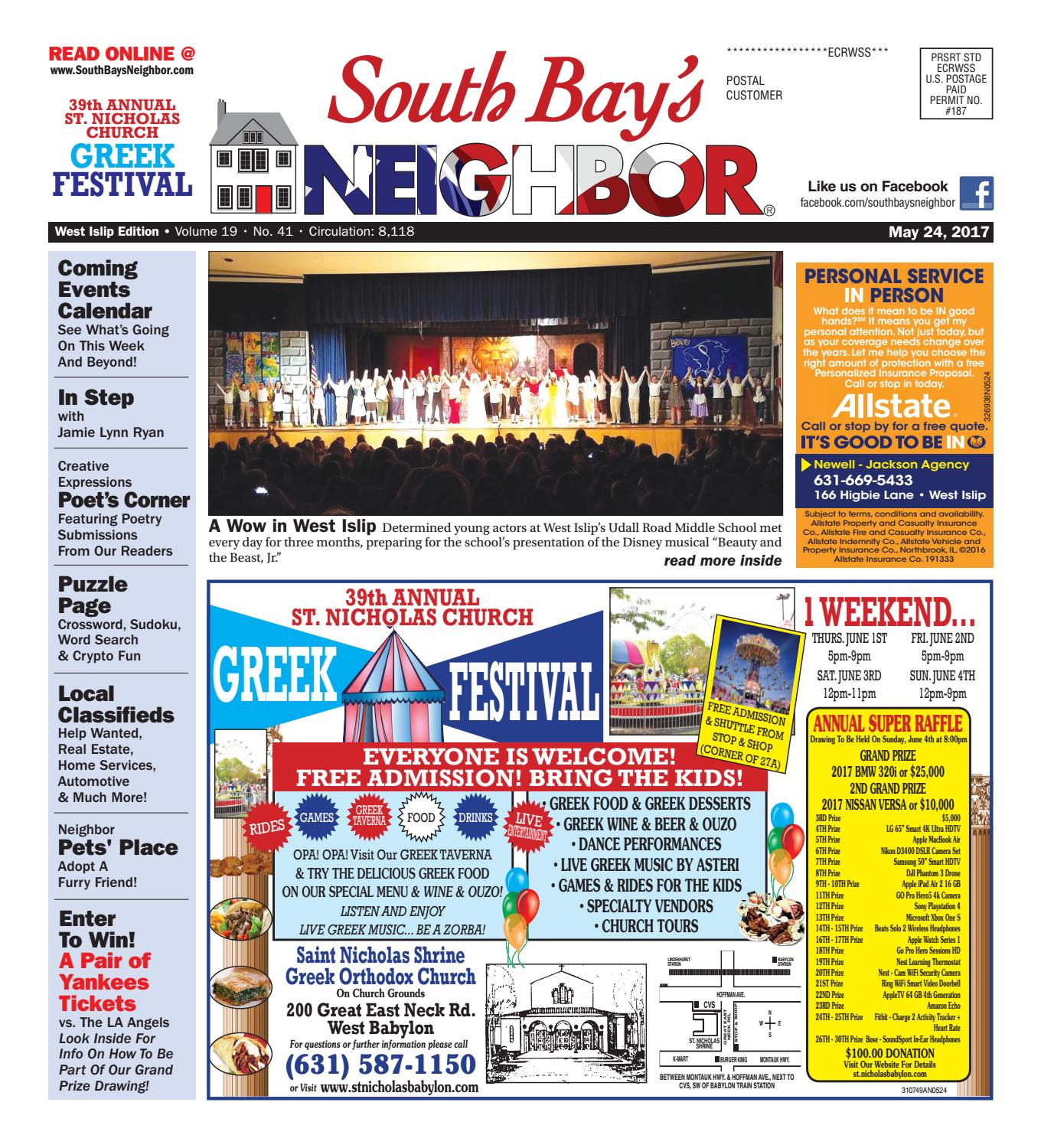 May 24, 2017 West Islip by South Bay's Neighbor Newspapers - issuu