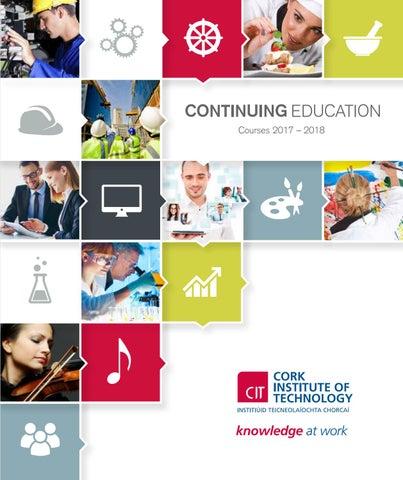 CIT Continuing Education Handbook 2017-2018 by Cork