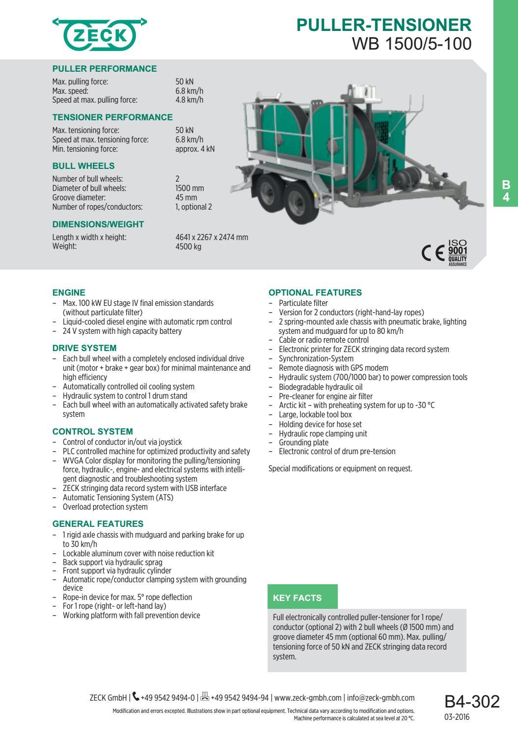 Puller Tensioner WB 1500/5-100 (EN) by ZECK GmbH - issuu