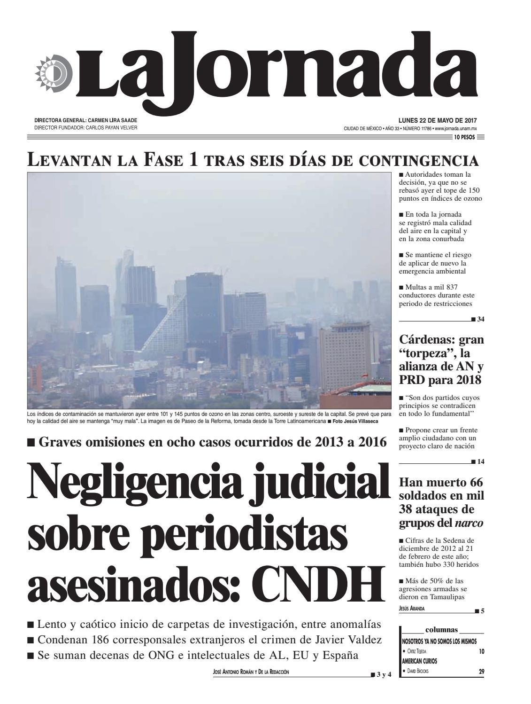 La Jornada 05 22 2017 By La Jornada Demos Desarrollo De Medios  # Muebles Mezquitic Saltillo