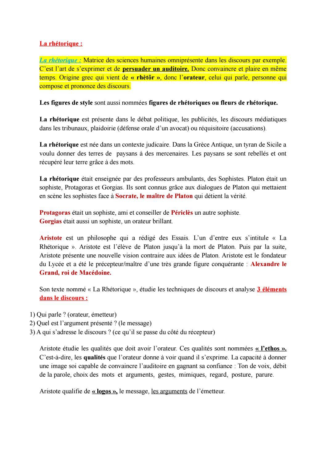 La Rhetorique By Nicolas Issuu