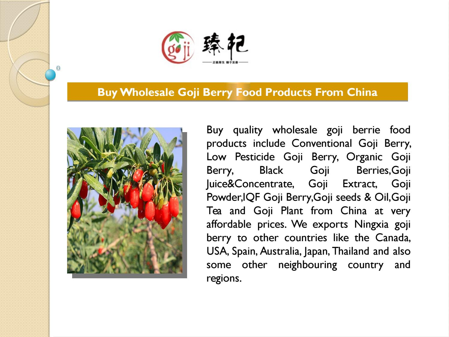 Buy Wholesale Goji Berry Food Products From China Berrygoji Com By