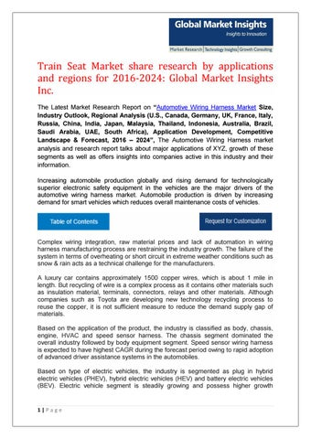 Cool Automotive Wiring Harness Market Share Research By Applications And Wiring Digital Resources Bletukbiperorg