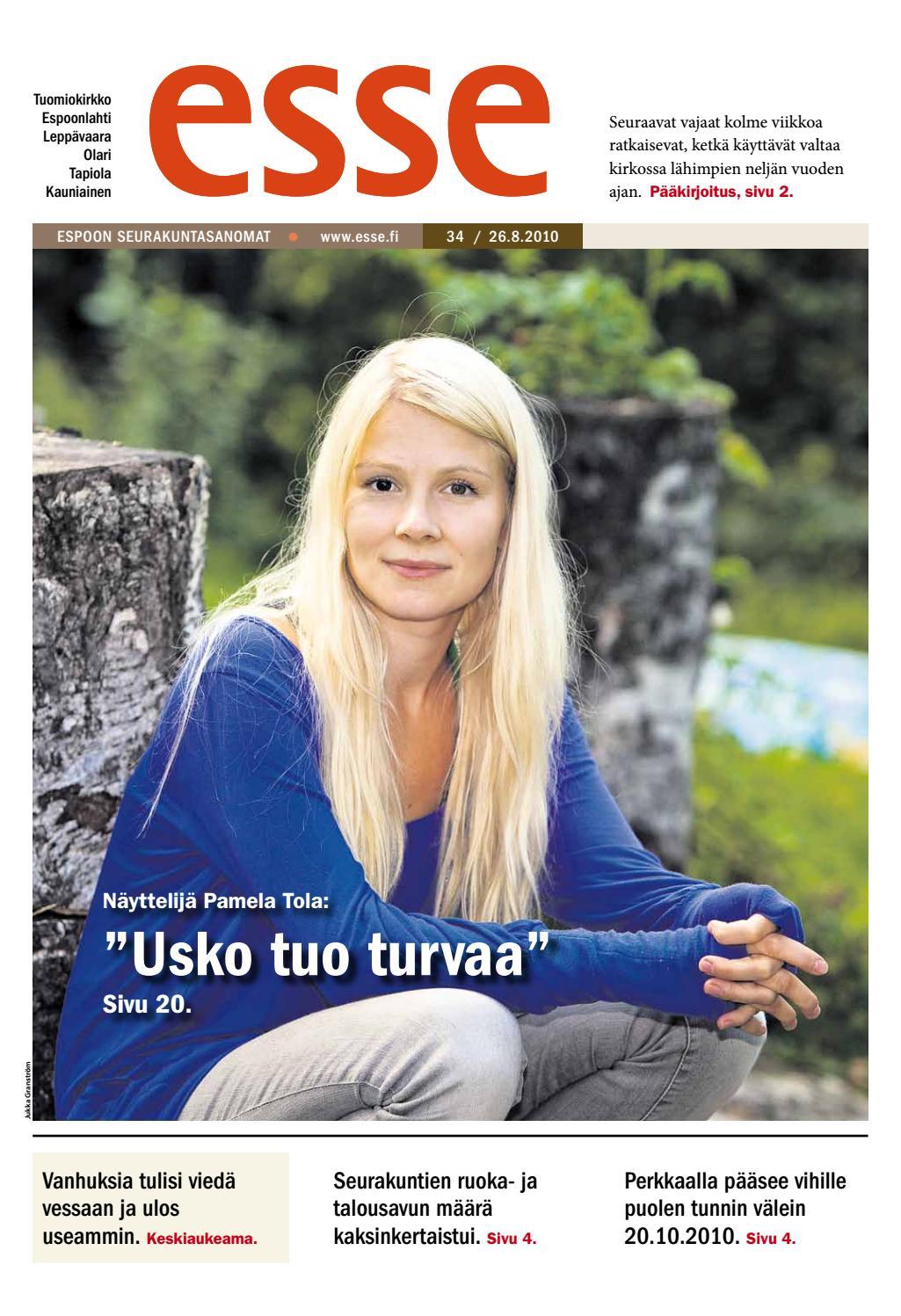 Esse 2010 nro 34 (26 8) by Kirkko ja kaupunki - issuu 18bb3ce707
