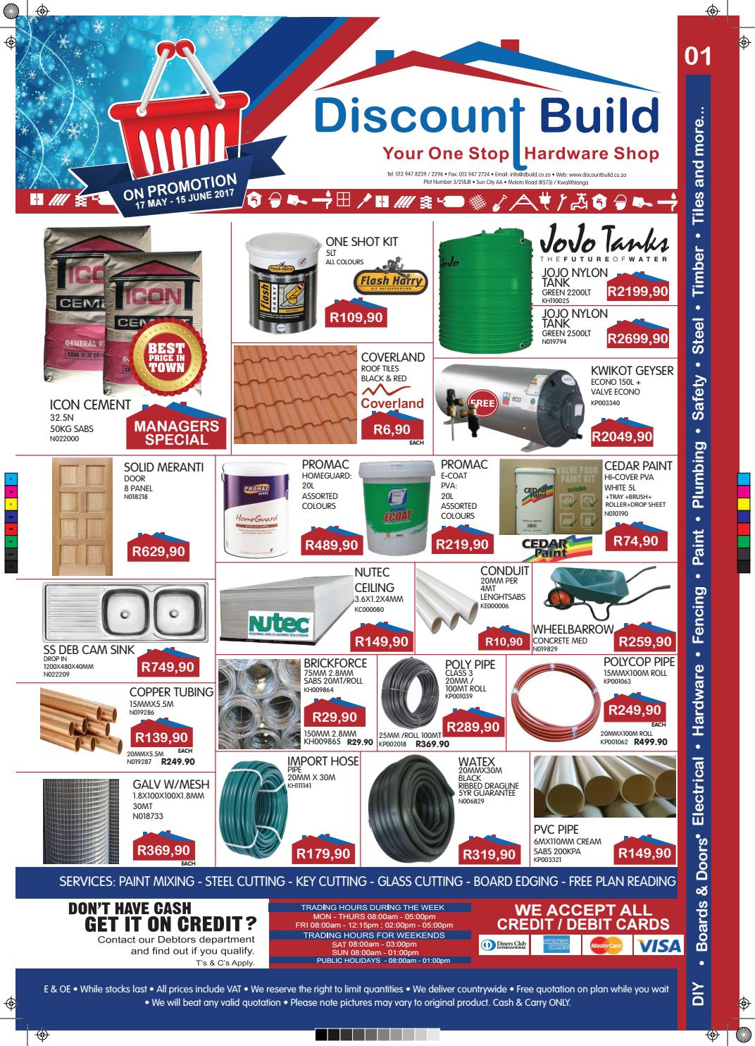 Discount Build Kwamhlanga Winter Promotion 2017 By E H