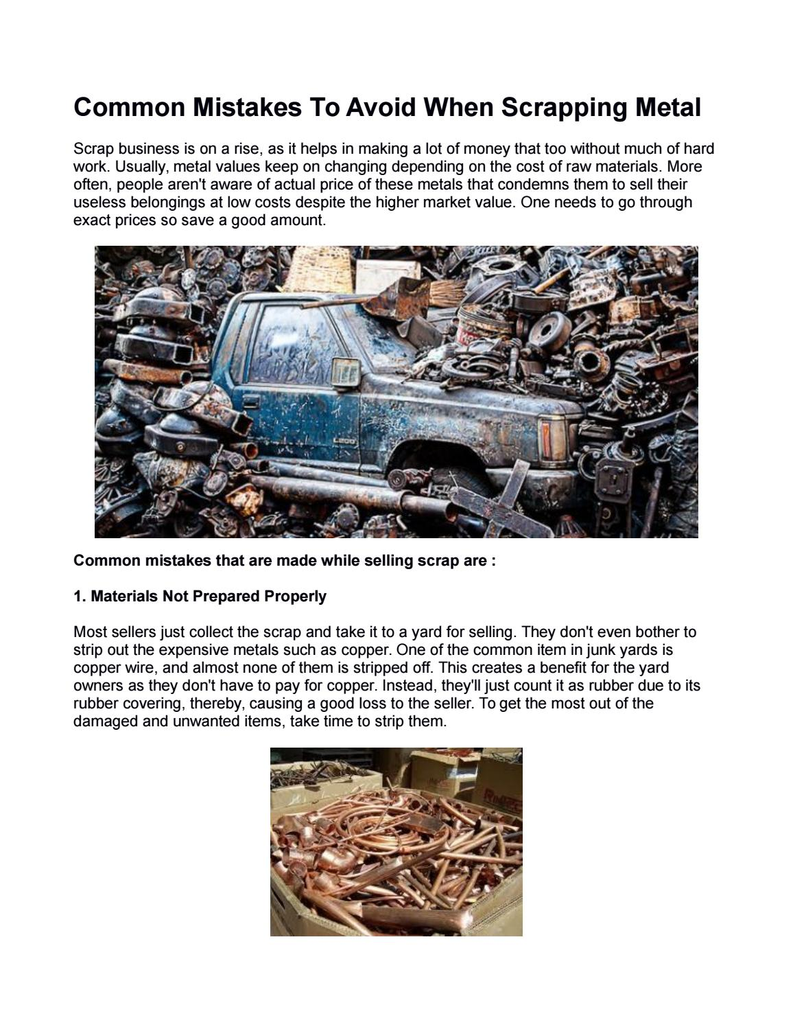 Common Mistakes To Avoid When Scrapping Metal by Global Metals ...