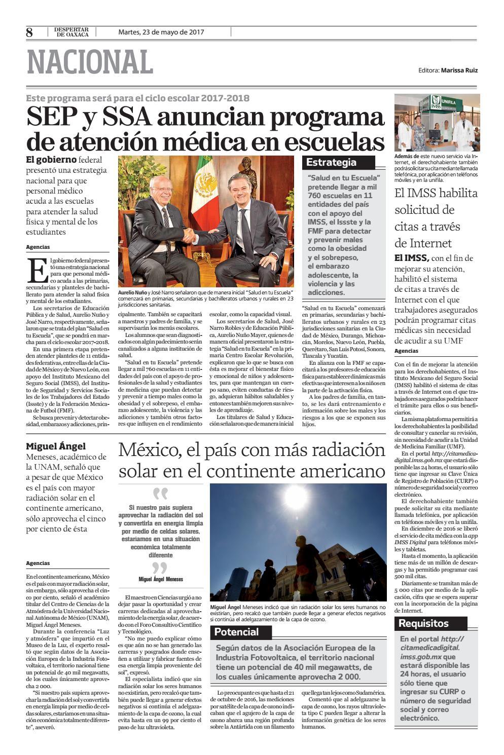Despertar 23 De Mayo 2017 By Despertar De Oaxaca Issuu