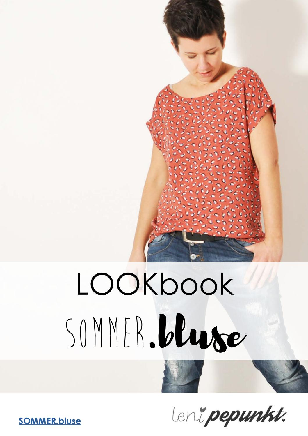 LOOKbook 93 SOMMERbluse Schnittmuster von leni pepunkt by leni ...