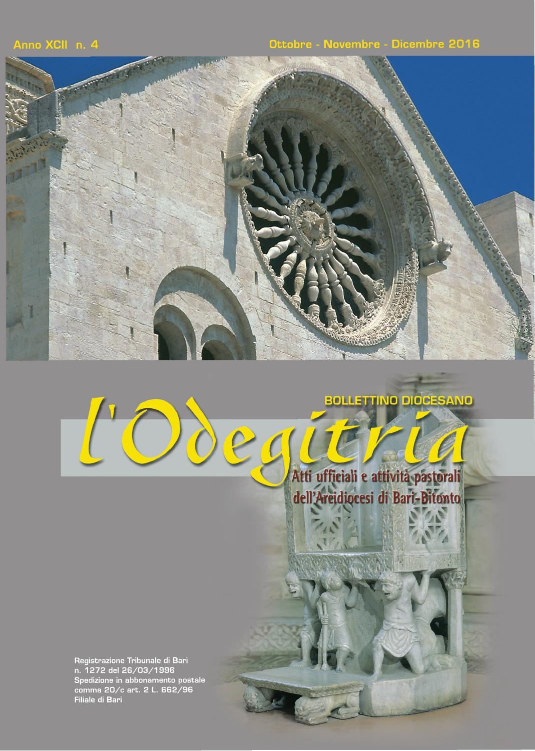 Bollettino Diocesano Ottobre-Dicembre 2016 by Ufficio Comunicazioni Sociali  Bari - issuu a0e1cb5d652