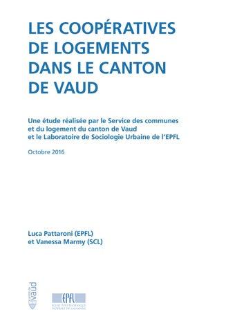 Les Cooperatives De Logements Dans Le Canton De Vaud By Etat De Vaud