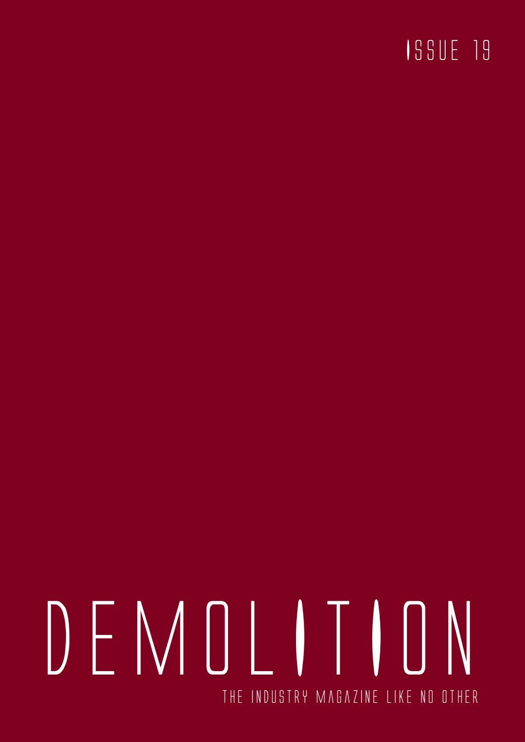 Demolition magazine - Issue 19 by Mark Anthony - issuu