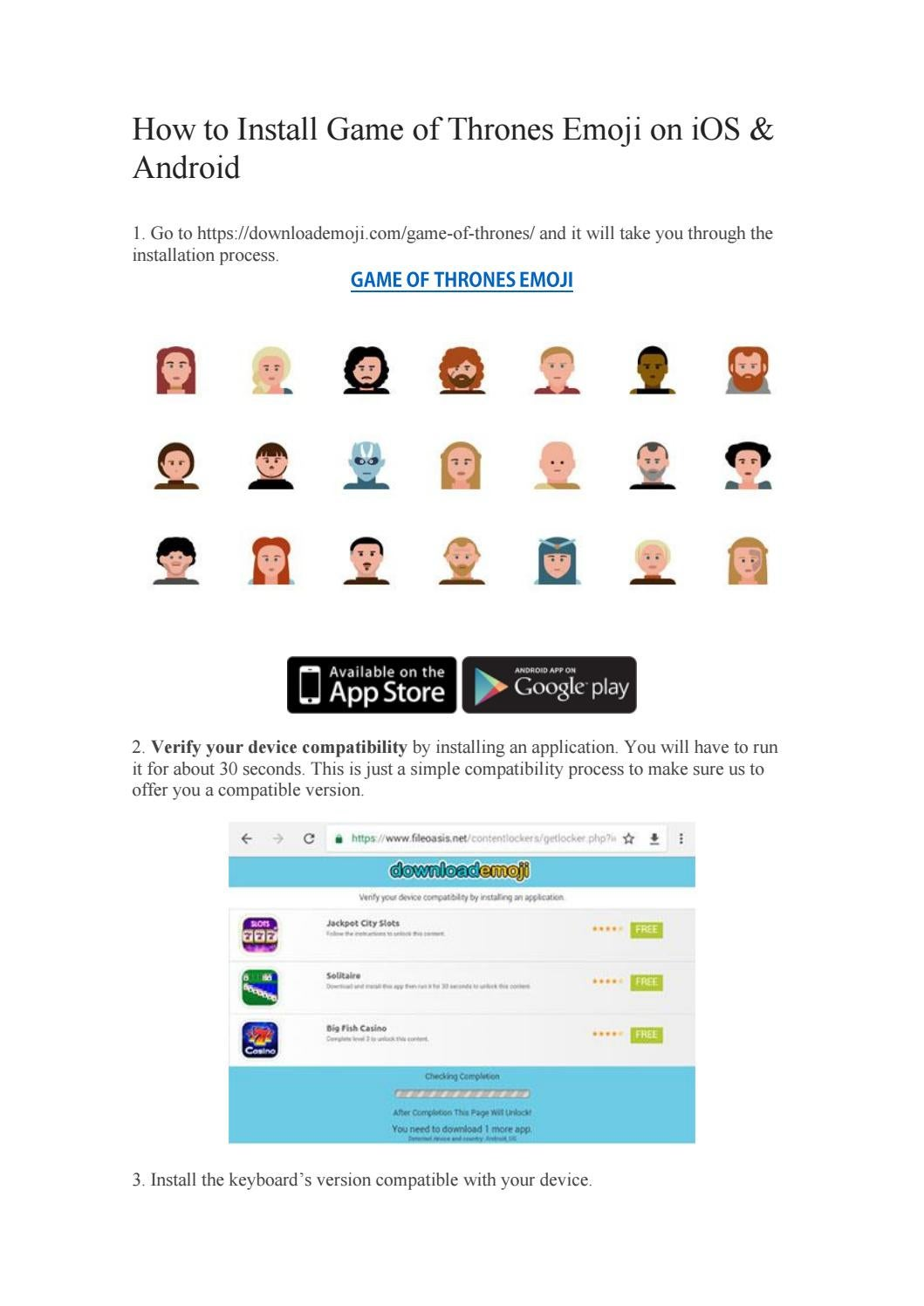 Game Of Thrones Emoji Keyboard for iOS & Android | Download