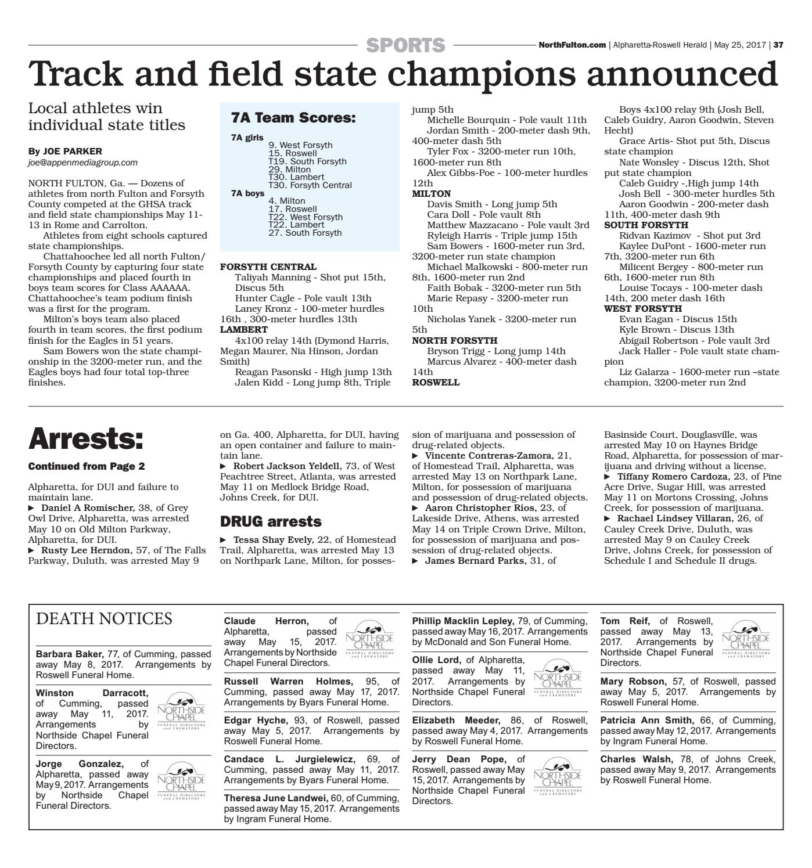 Alpharetta-Roswell Herald - May 25, 2017 by Appen Media