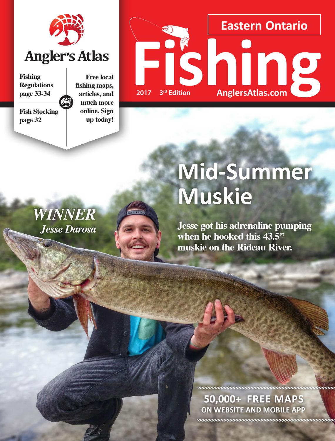Eastern ontario fishing 2017 by angler 39 s atlas issuu for California fishing license 2017