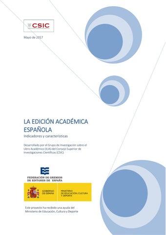 55a3192bb73a La edición académica española. Indicadores y características by ...