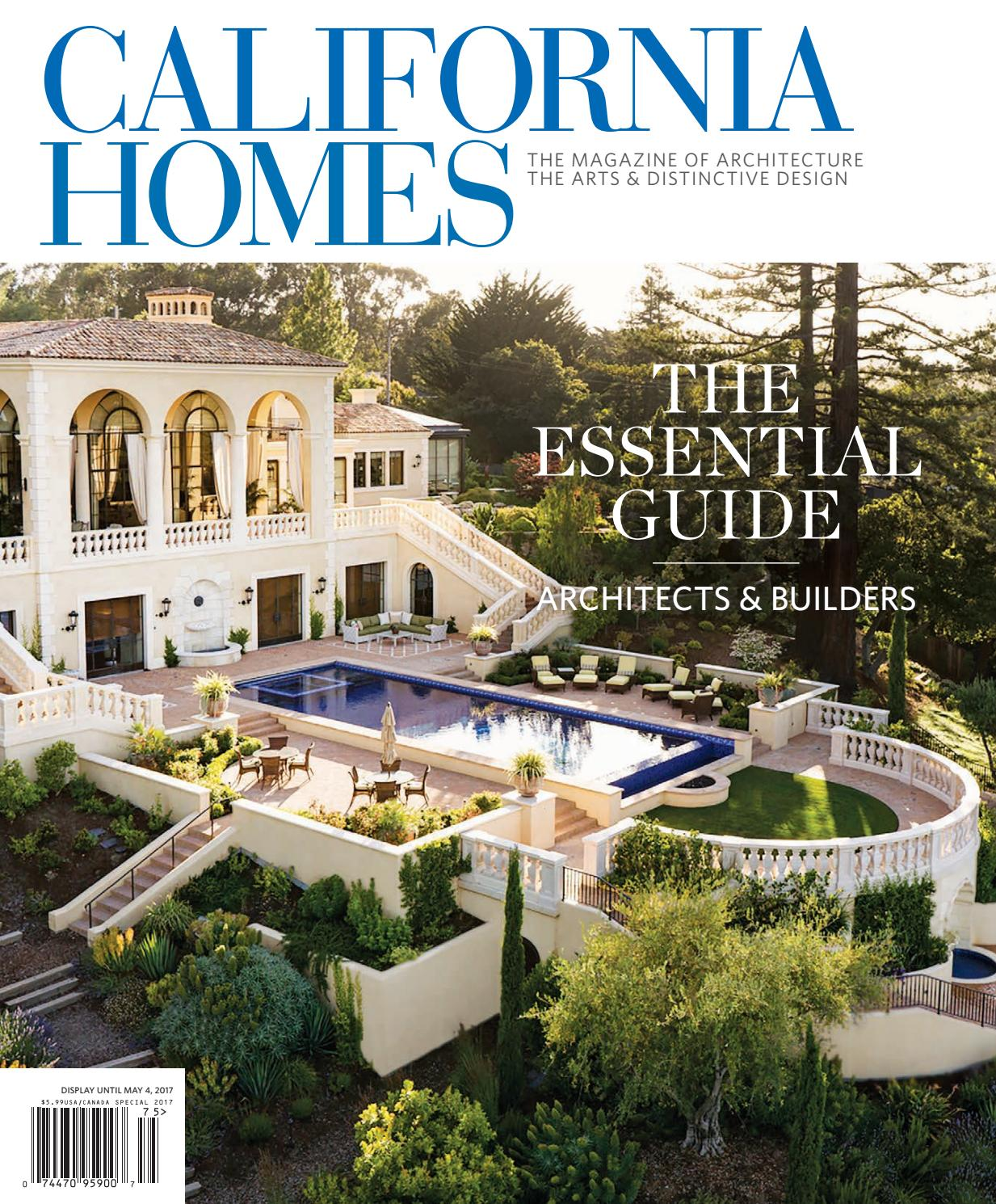 California homes essential guide to architects for Home builders magazine